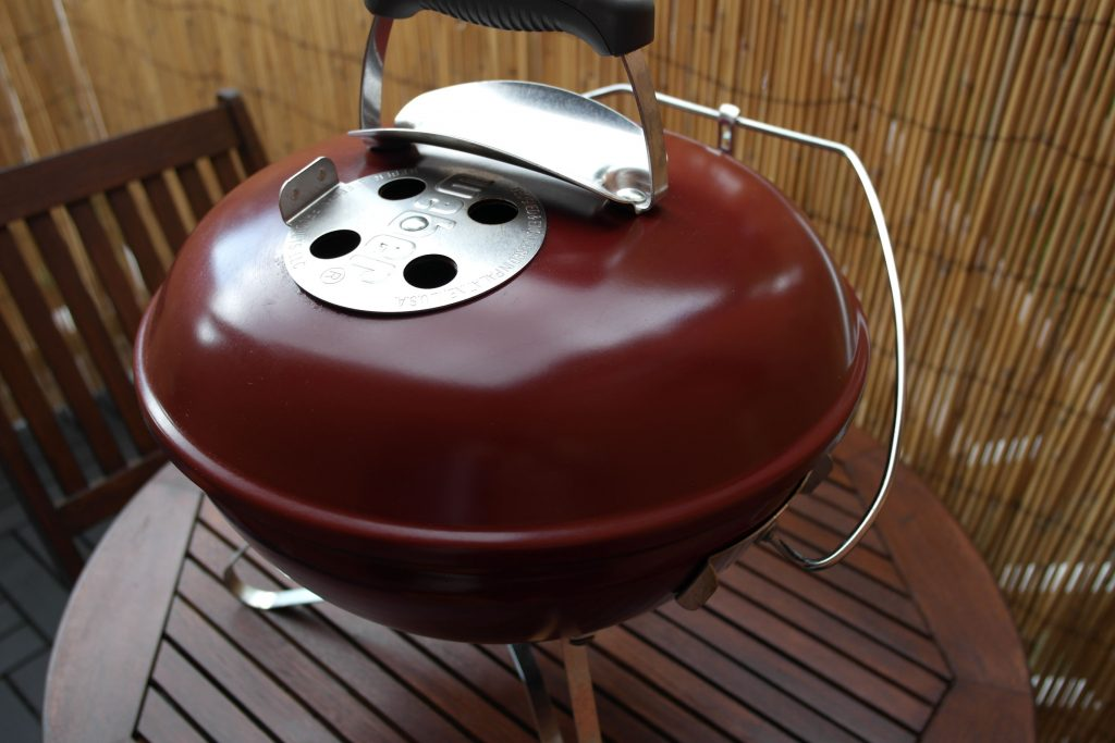 Weber Smokey Joe Premium Review - Barbecue After Use Outside