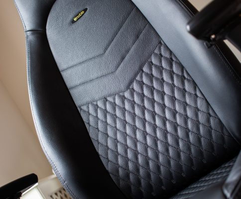 Noblechairs Icon Gaming Chair Real Leather Review - Leather Material Closeup