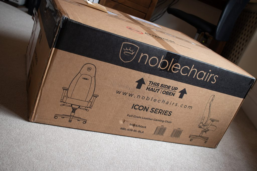Noblechairs Icon Gaming Chair Real Leather Review - Packaging